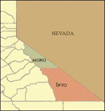 Maps Of The Eastern Sierra For Mono And Inyo County Topo Maps - Crowley lake map